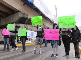 Protesta gimnasios 31 poniente y bulevar Atlixco