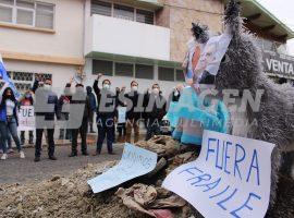 Panistas de San Andrés Protestan
