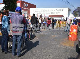 Centro de salud de San Andrés Cholula punto de vacunación