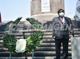 Ceremonia conmemorativa al 490 aniversario de la fundación de Puebla