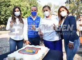 Celebran aniversario de Puebla en Parque de Analco
