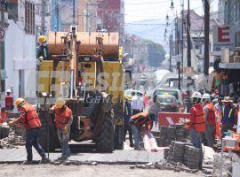Obras de rehabilitación vial en el Centro Histórico